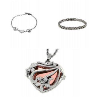 Gioielli in argento e acciaio